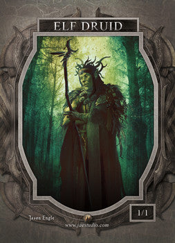 Elf Druid 2 Token for MTG (Jason Engle)