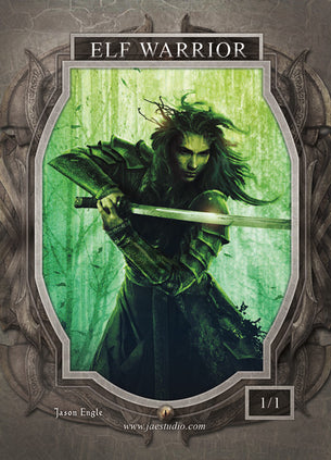 Elf Warrior Token for MTG (Jason Engle)