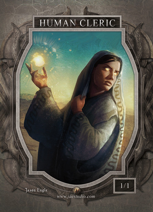 Human Cleric Token for MTG (Jason Engle)