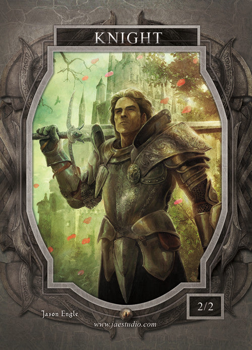 Knight Token for MTG (Jason Engle) Token Jason Engle - Cardamajigs