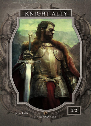 Knight Ally Token for MTG (Jason Engle)