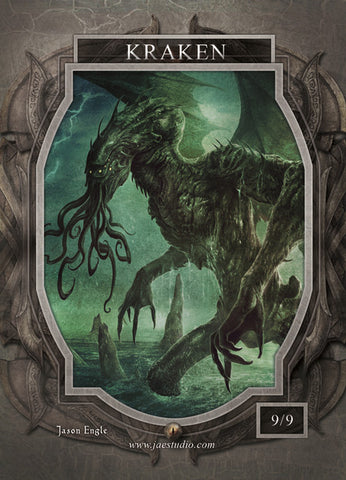 Kraken Token for MTG (Jason Engle)
