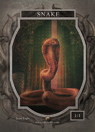 Snake Token for MTG (Jason Engle)