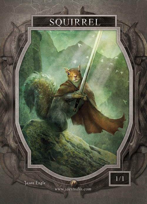 Squirrel Token for MTG (Jason Engle) Token Jason Engle - Cardamajigs
