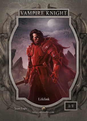 Vampire Knight Token for MTG (Jason Engle)