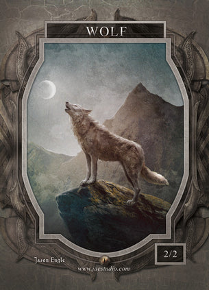 Wolf Token for MTG (Jason Engle)