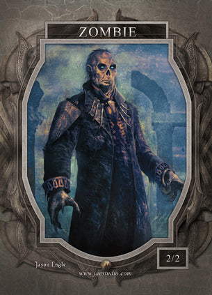 Zombie 2 Token for MTG (Jason Engle)