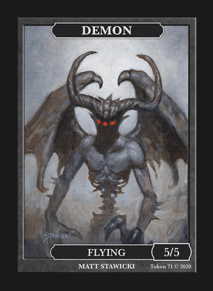 Limited Edition Demon Token for MTG (by Matt Stawicki)