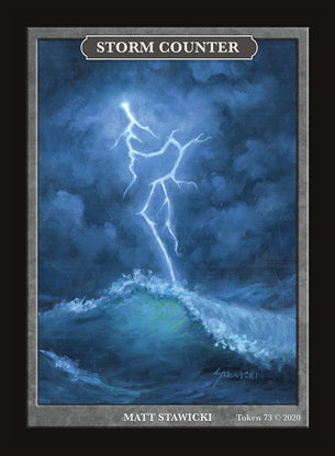 Limited Edition Storm Counter for MTG (by Matt Stawicki)