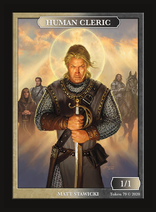 Limited Edition Human Cleric Token for MTG (by Matt Stawicki)
