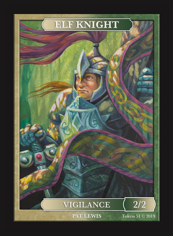 Limited Edition Elf Knight Token for MTG (by Pat Lewis) Token Givememana - Cardamajigs