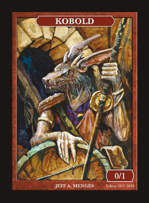 Limited Edition Kobold Token for MTG (by Jeff A. Menges)