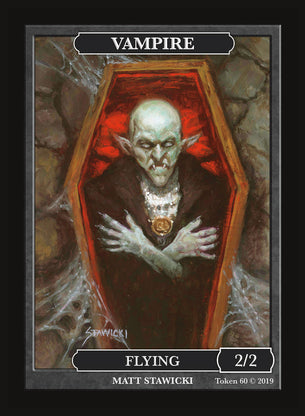 Limited Edition Vampire Token for MTG (by Matt Stawicki)