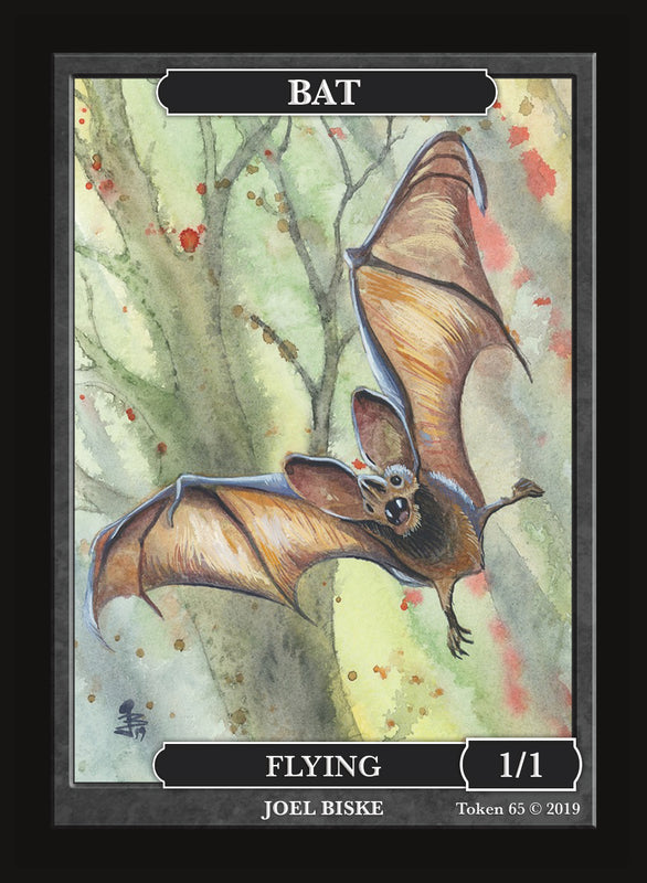 Bat Token for MTG (by Joel Biske) Token Givememana - Cardamajigs