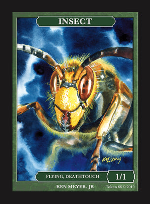 Insect Deathtouch Token for MTG (by Ken Meyer Jr.)