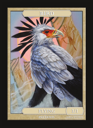 Limited Edition Bird Token for MTG (by Pat Lewis)