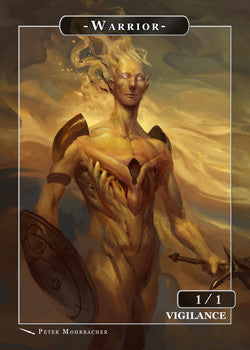 Warrior Token for MTG (Peter Mohrbacher)