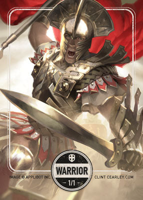 Warrior 2 token for MTG (Clint Cearley)