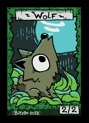 Wolf 2 Token for MTG (Butzbo)