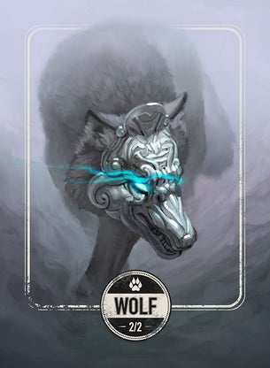 Wolf token for MTG (Clint Cearley)