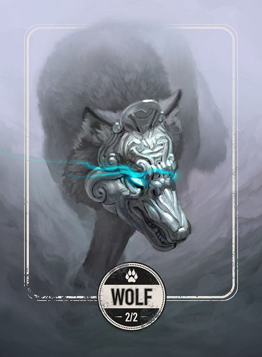 Wolf token for MTG (Clint Cearley) Token Clint Cearley - Cardamajigs