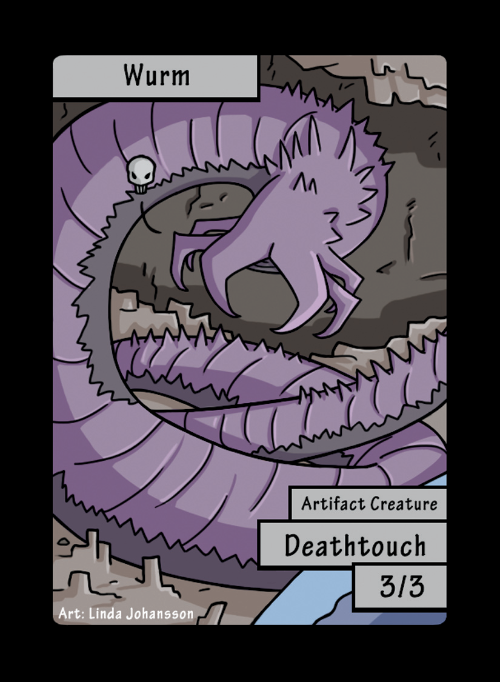 Wurm Deathtouch Token for MTG (LNJ)