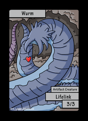 Wurm Lifelink Token for MTG (LNJ)