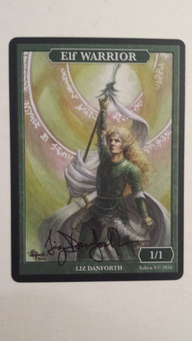 Limited Edition Elf Warrior Token for MTG (by Liz Danforth) SIGNED
