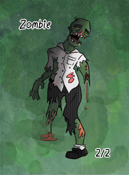 4x Zombie Tokens for MTG (ROS)