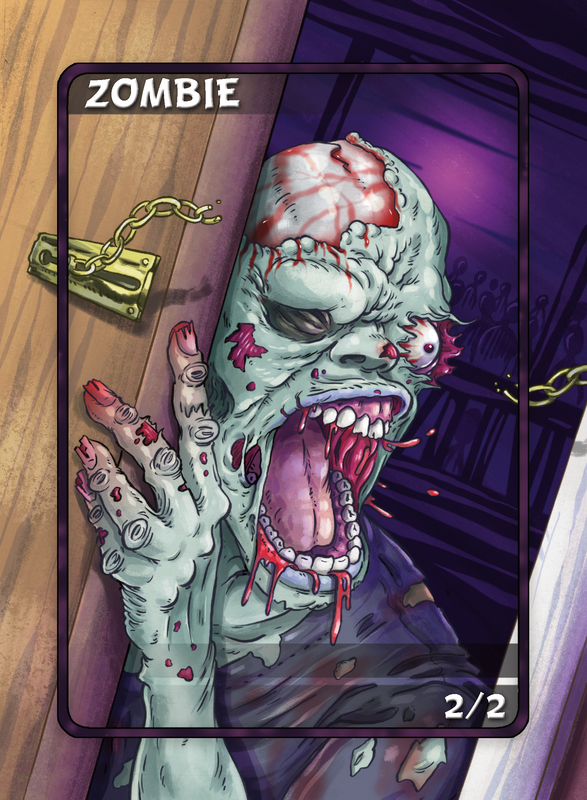 Zombie Token for MTG (Anthony Briglia) Token Anthony Briglia - Cardamajigs