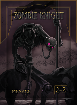 4x Zombie Knight Tokens for MTG (ISH)