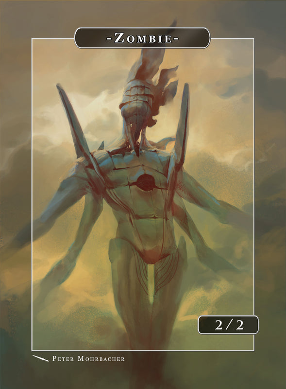 Zombie Mummy Token for MTG (Peter Mohrbacher) Token Angelarium 2 - Cardamajigs