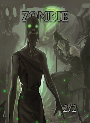 4x Zombie 2/2 Tokens for MTG (ISH)