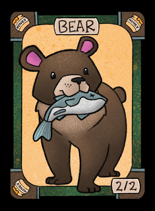 4x Bear Tokens for MTG (LAN)