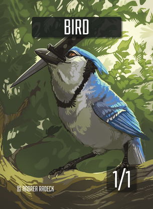 Bird Token for MTG (Andrea Radeck)