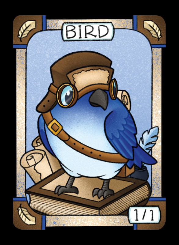 Bird (Blue) for MTG (LAN) Token Leah Andersen - Cardamajigs