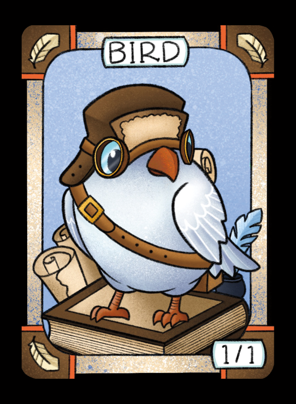 Bird (White) for MTG (LAN) Token Leah Andersen - Cardamajigs