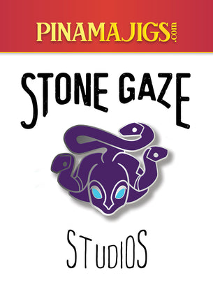 "Stone Gaze Studios 1.5"" Pin Alpha"