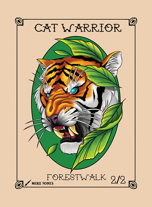 Cat Warrior Token for MTG (Mike Jones)