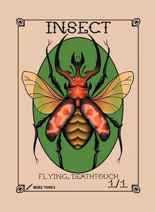 Insect Deathtouch Token for MTG (Mike Jones)