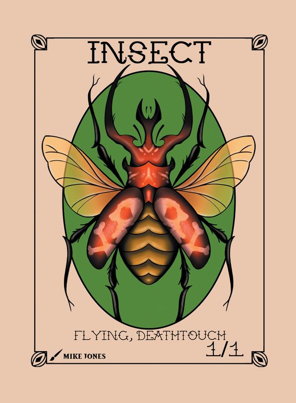 Insect Deathtouch Token for MTG (Mike Jones) Token Mike Jones - Cardamajigs