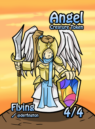 4x Angel Tokens for MTG (Durdling Around)