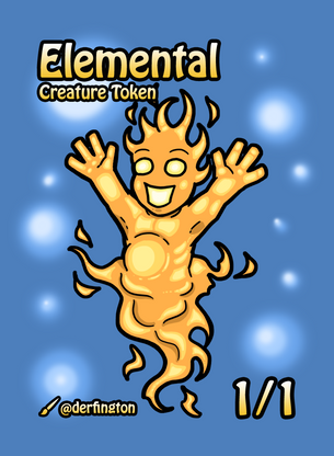 Elemental Token for MTG (Durdling Around)
