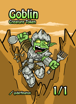 Goblin Token for MTG (Durdling Around)