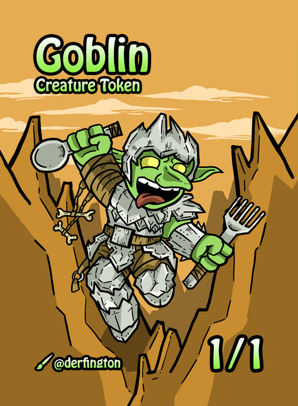 Goblin Token for MTG (Durdling Around) Token Durdling Around - Cardamajigs