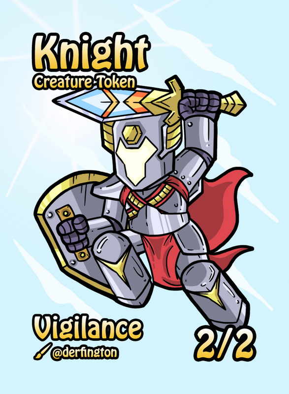 Knight Token for MTG (Durdling Around) Token Durdling Around - Cardamajigs
