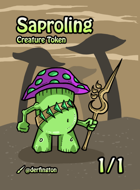 Saproling Token for MTG (Durdling Around)
