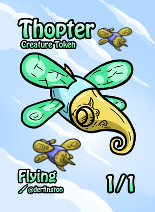 4x Thopter Tokens for MTG (Durdling Around)
