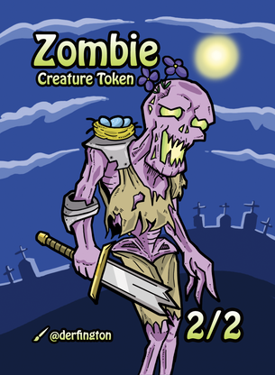 Zombie Token for MTG (Durdling Around)