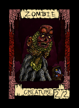 Zombie Token for MTG (Dogmuth Behedog)